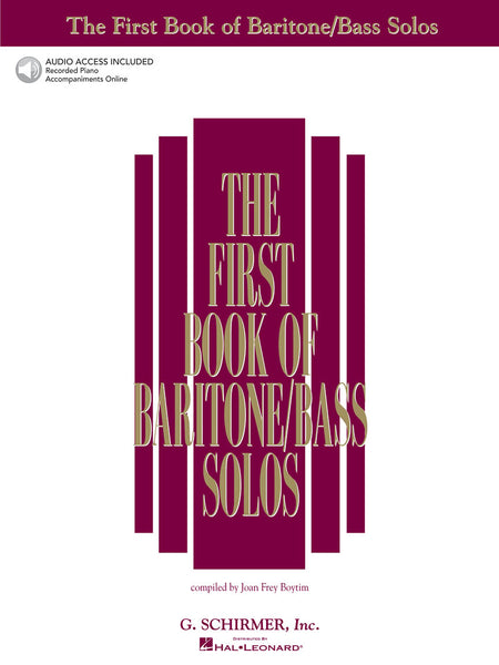 Hal Leonard  The First Book Of Baritone/Bass Solos