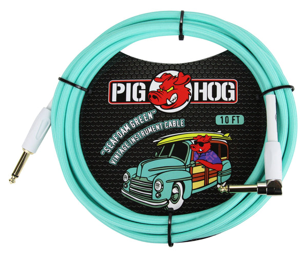 Pig Hog Seafoam Green Instrument Cables