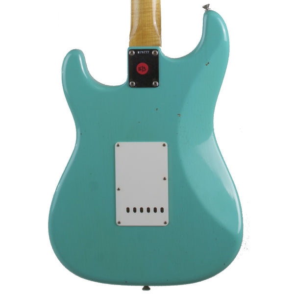 2015 Fender Custom Shop 1959 Journeyman Relic Stratocaster RW, Sea Foam Green - Garrett Park Guitars  - 5