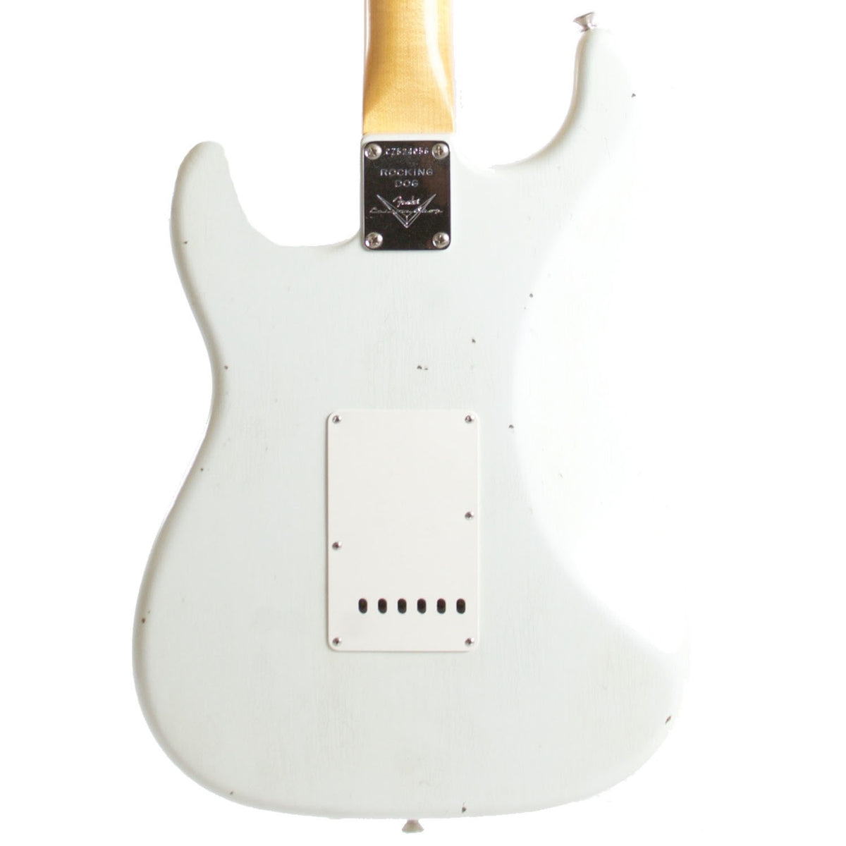 2015 Fender Custom Shop Rocking Dog '62 Stratocaster Olympic White - Garrett Park Guitars  - 5