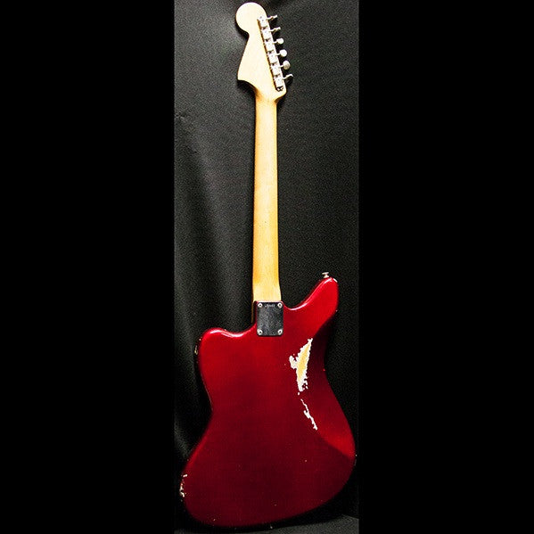 1964 FENDER JAGUAR CANDY APPLE RED - Garrett Park Guitars  - 7