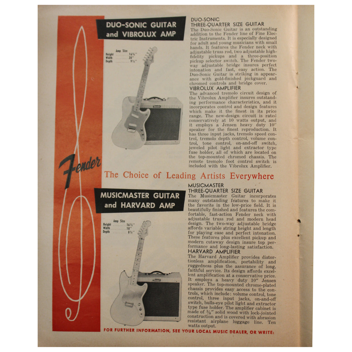 1956 Fender Catalog - Garrett Park Guitars  - 6