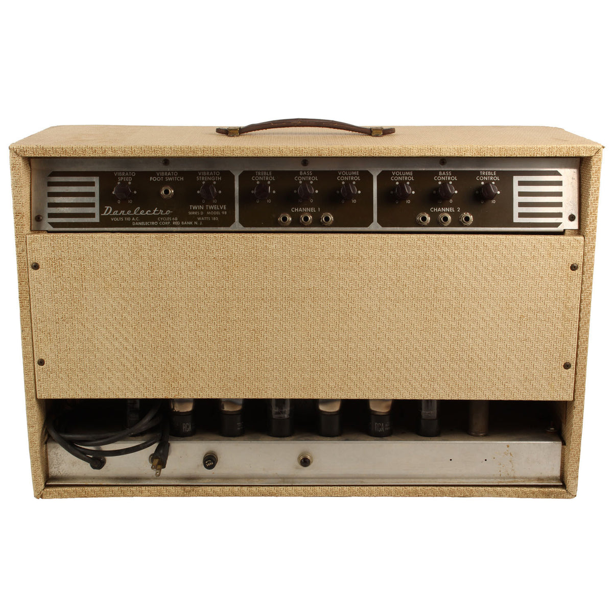 1956 Danelectro Model 98 Series D Twin Twelve Amplifier - Garrett Park Guitars  - 6