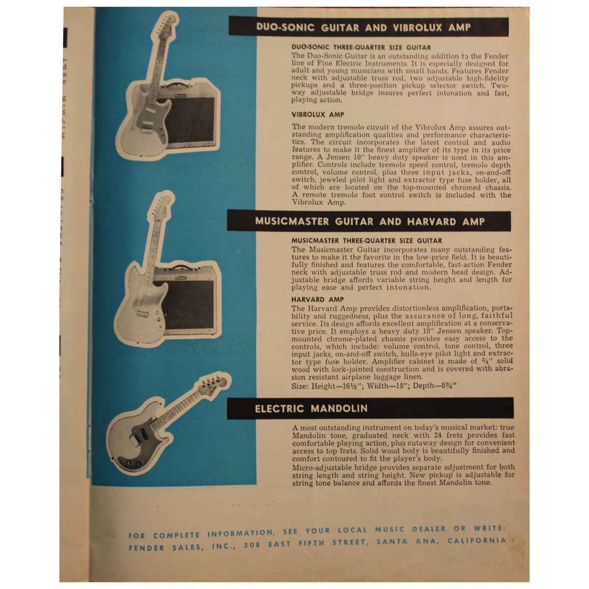 Fender Catalog Collection (1955-1966) - Garrett Park Guitars  - 23