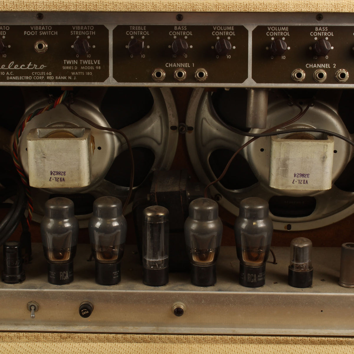 1956 Danelectro Model 98 Series D Twin Twelve Amplifier - Garrett Park Guitars  - 7