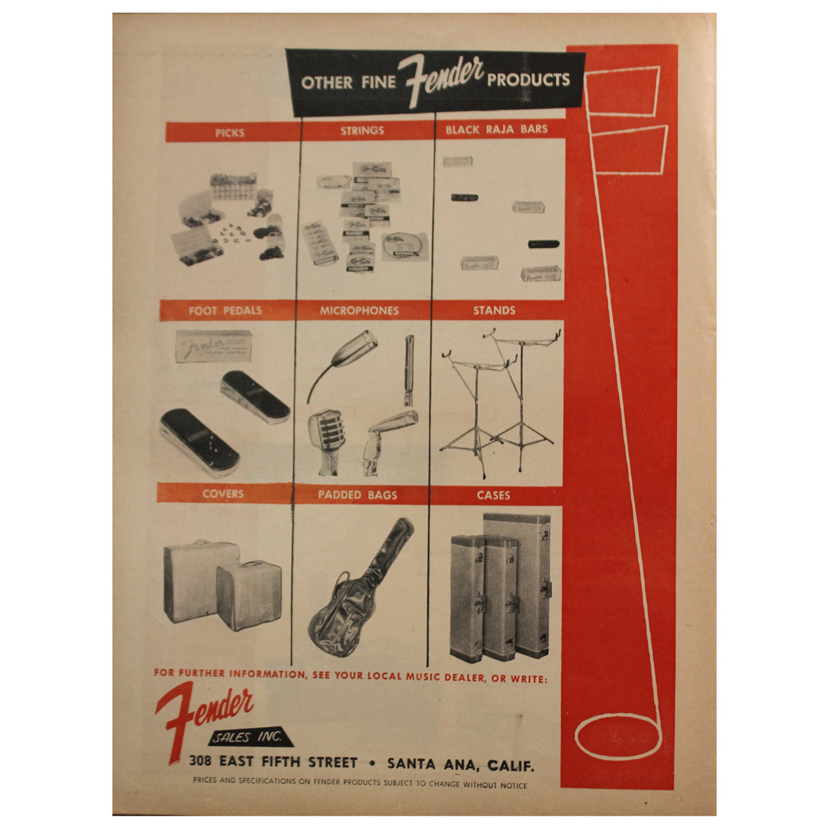 1956 Fender Catalog - Garrett Park Guitars  - 8