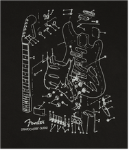 Fender Stratocaster Patent Drawing T-Shirt