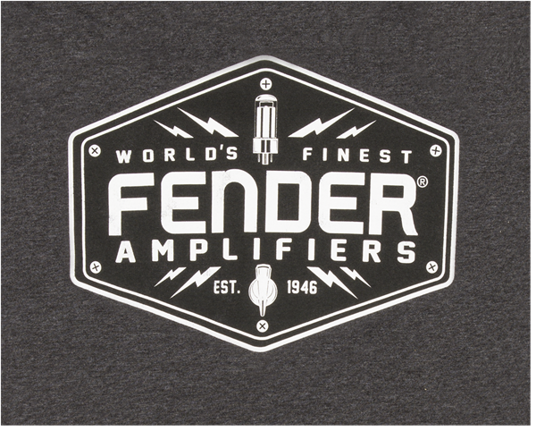 Fender Bolt Down T-Shirt Charcoal