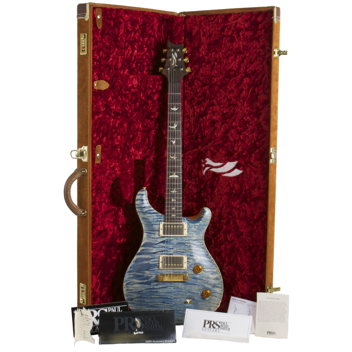 2007 PRS Modern Eagle Faded Blue Jean Denim - Garrett Park Guitars  - 9