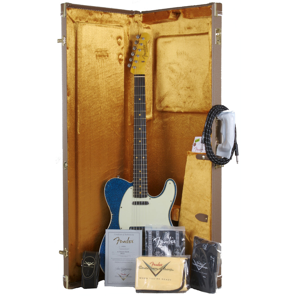 Fender Custom Shop '60 Telecaster Relic Blue Sparkle - Garrett Park Guitars  - 8