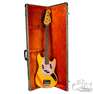 1971 Fender Competition Orange Mustang Bass w/ Rose Pickguard