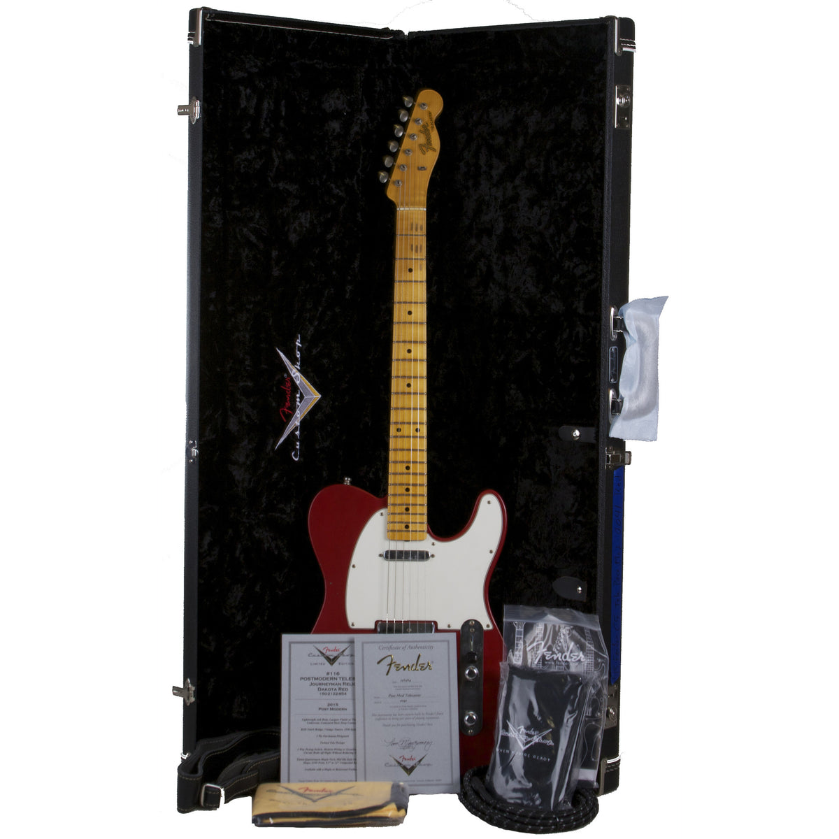 2015 Fender Custom Collection PostModern Journeyman Telecaster MN, Dakota Red - Garrett Park Guitars  - 9