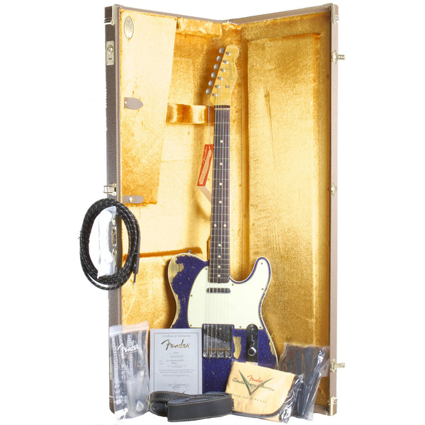 FENDER CUSTOM SHOP PURPLE SPARKLE TELECASTER CUSTOM RELIC - Garrett Park Guitars  - 9