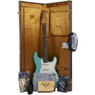 2015 Fender Custom Shop 1959 Journeyman Relic Stratocaster RW, Sea Foam Green - Garrett Park Guitars  - 9