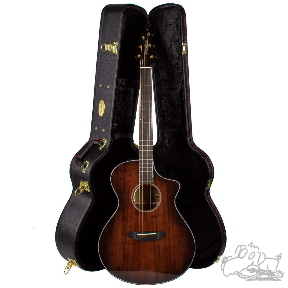 Breedlove Oregon Concert Black Cherry CE LTD Myrtlewood - Myrtlewood
