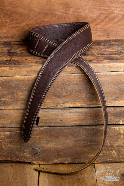 "LM The Slim Brown 2"" Adjustable Guitar Strap"