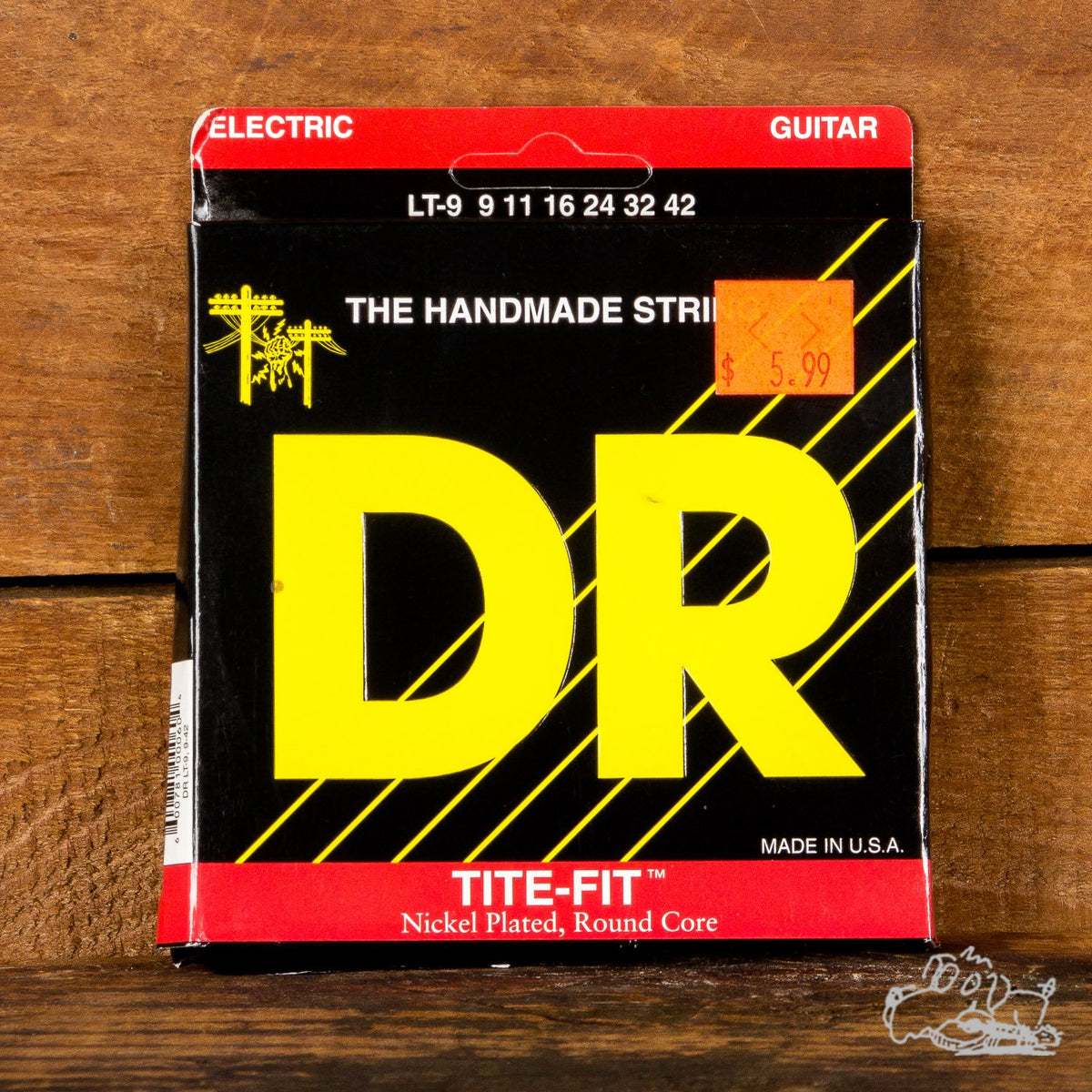 DR Tite-Fit Nickel Plated, Round Core 9-42 Light Electric Guitar Strings