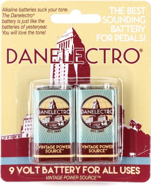 Danelectro 9volt Batteries - Two Pack