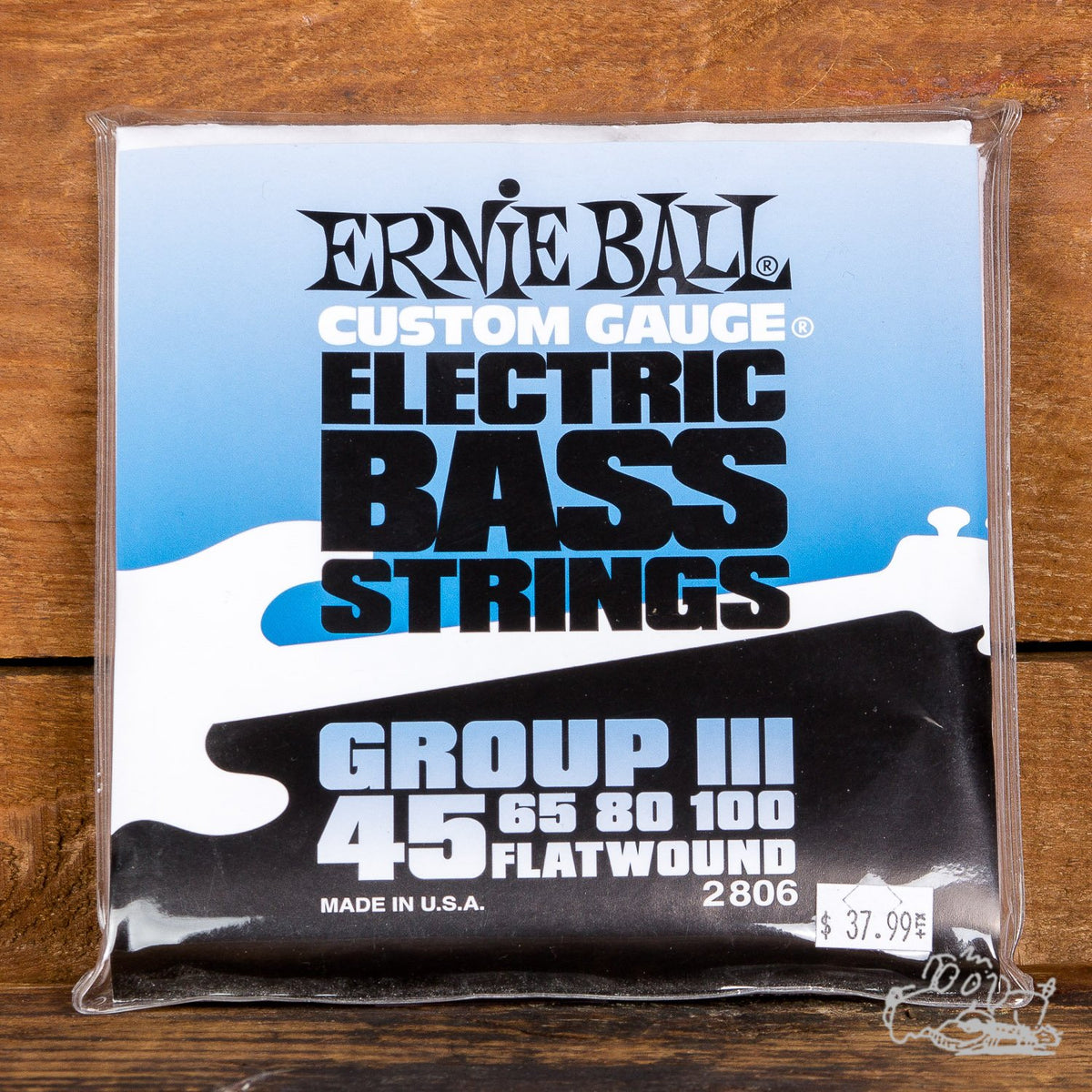 Ernie Ball Group III Flatwound 45-100 Electric Bass Guitar Strings