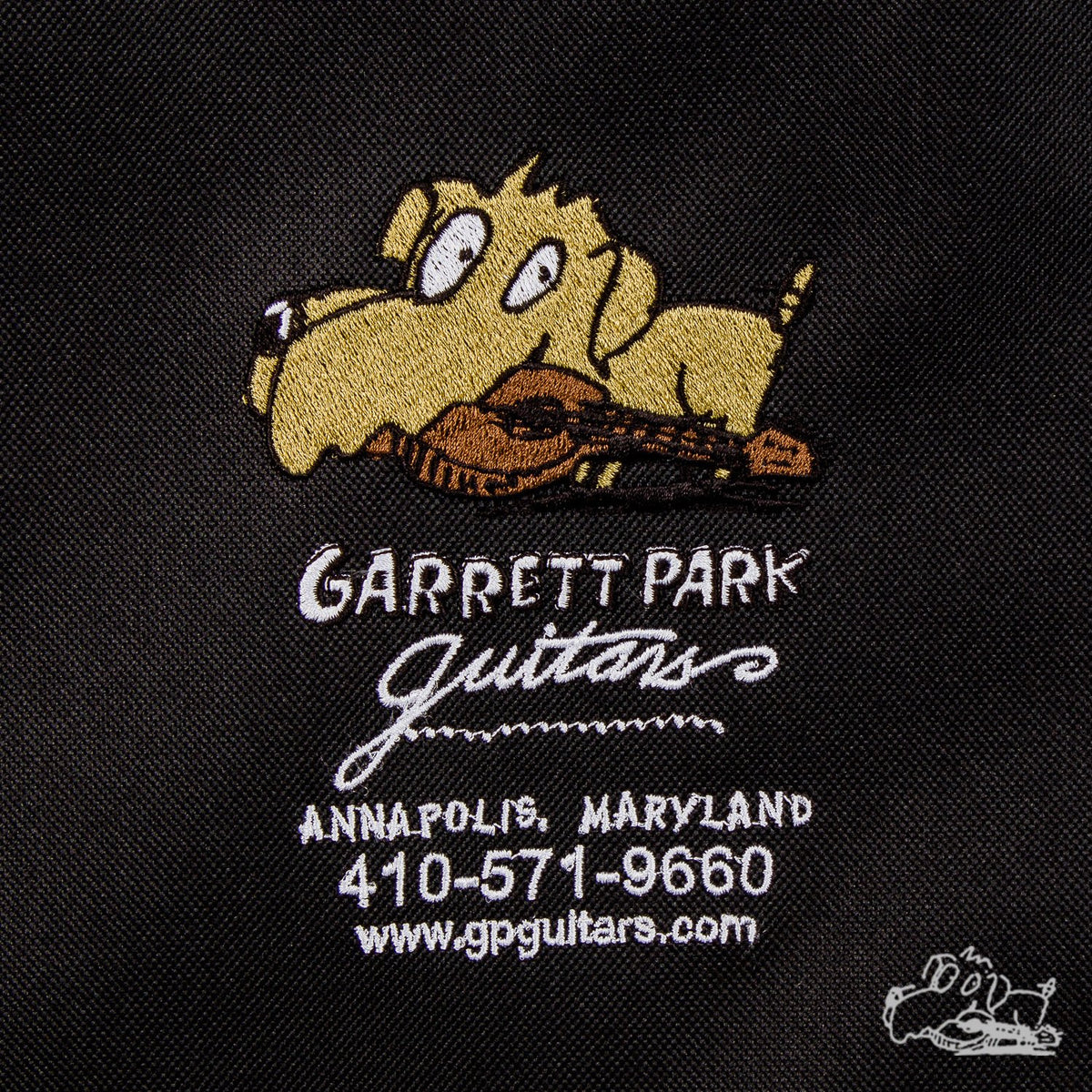 Garrett Park Guitars Embroidered Deluxe Electric Guitar Nylon Soft Case Gig Bag