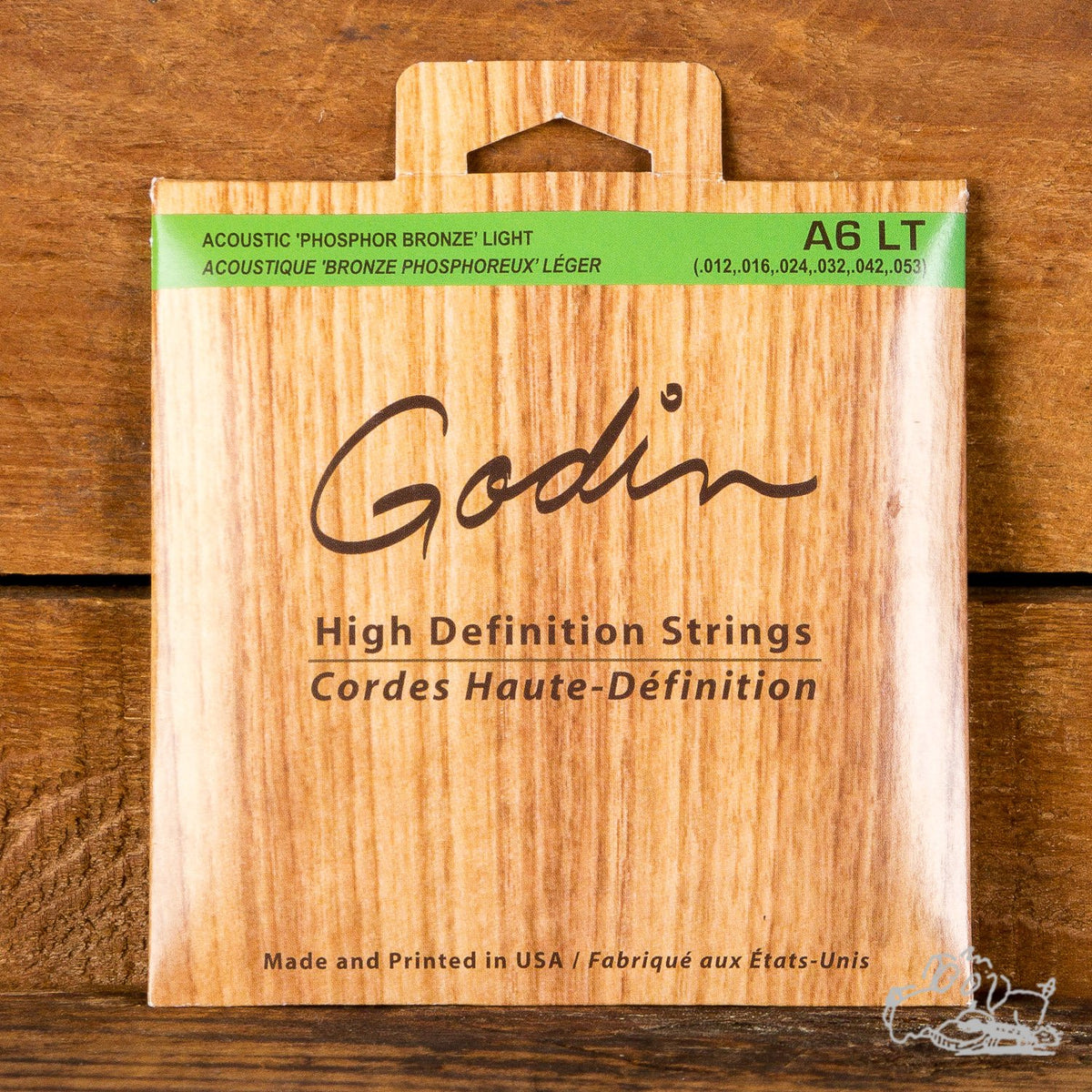 Godin 12-53 Phosphor Bronze High Definition Light Acoustic Guitar Strings