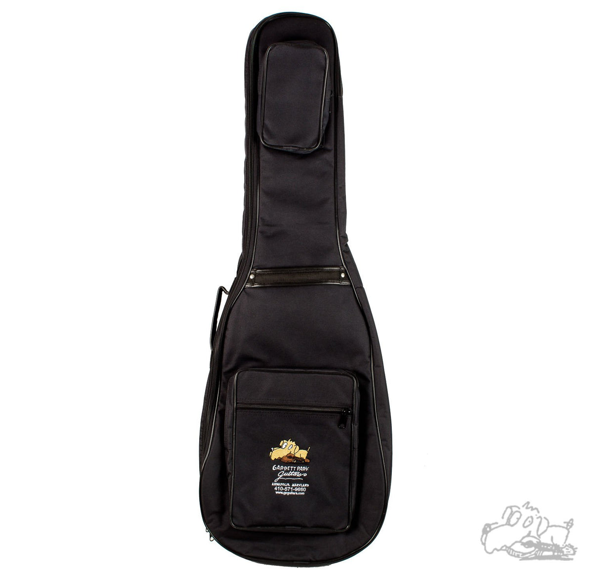 Garrett Park Guitars Embroidered Deluxe Electric Bass Guitar Nylon Soft Case Gig Bag