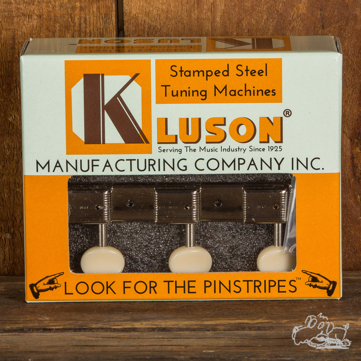 Kluson 3 on a Plate Single Line Plastic Button Tuning Machines