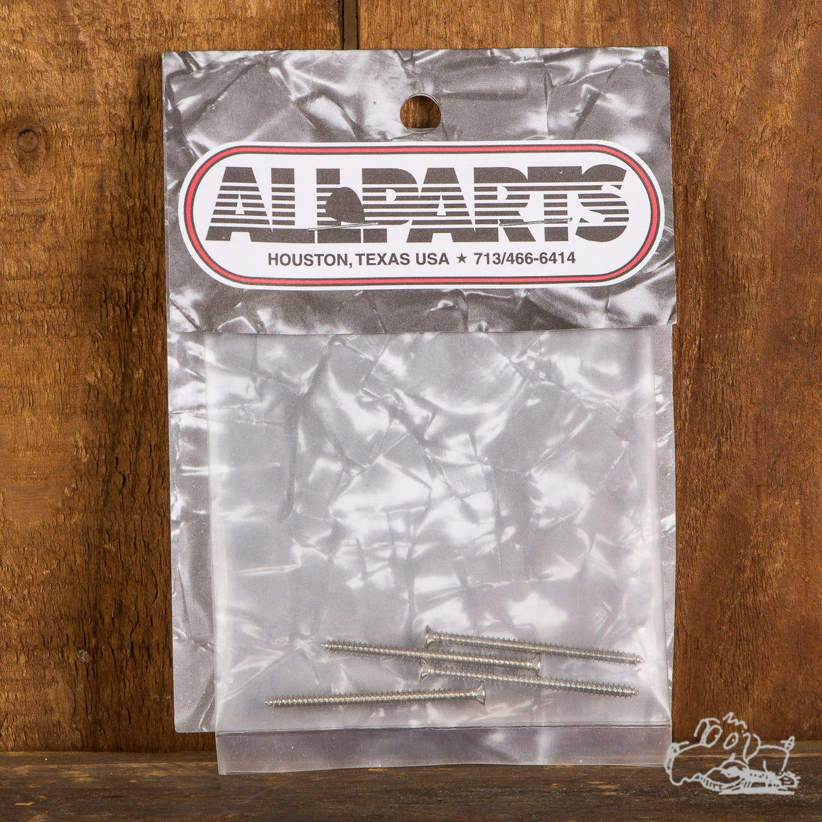 Allparts Four Nickel Soap Bar Pickup Screws
