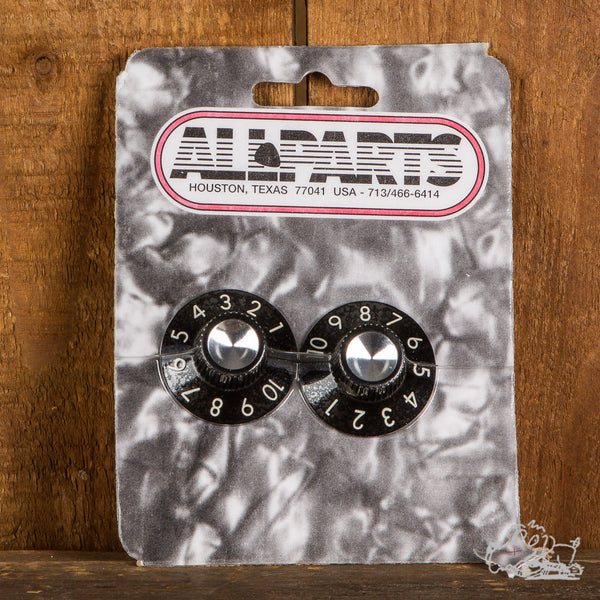 Allparts Black Amp Knobs