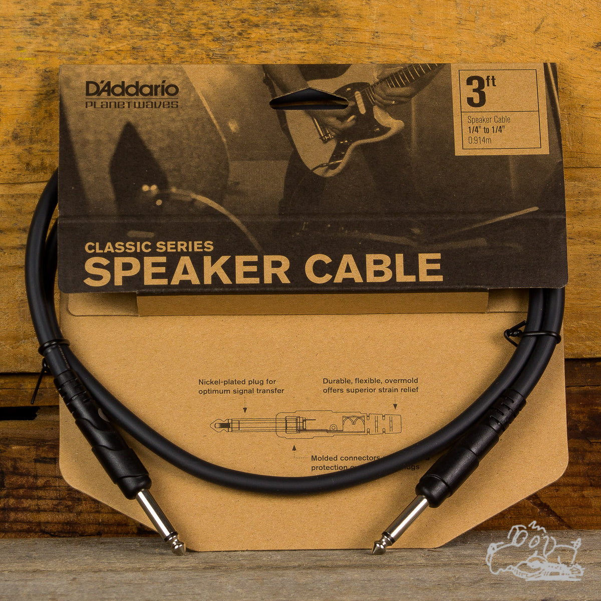 "D'Addario Classic Series 1/4"" to 1/4"" Speaker Cable (Choose a Size)"