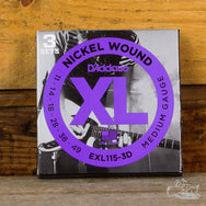 D'Addario XL Electric Guitar Strings Nickel Wound Medium 11-49 (Three Sets Pack)