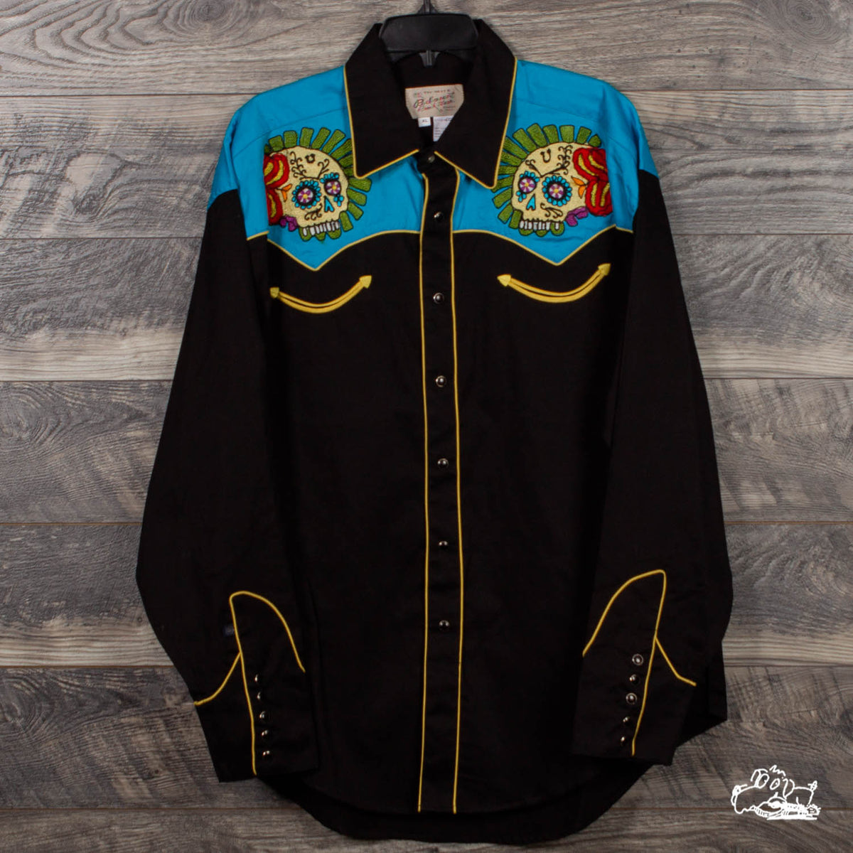 Rockmount Ranch Wear - Men's Sugar Skulls 2-Tone Embroidered Western Shirt