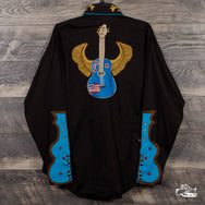 Rockmount Ranch Wear - Men's Winged Guitars Vintage Embroidered Western Shirt