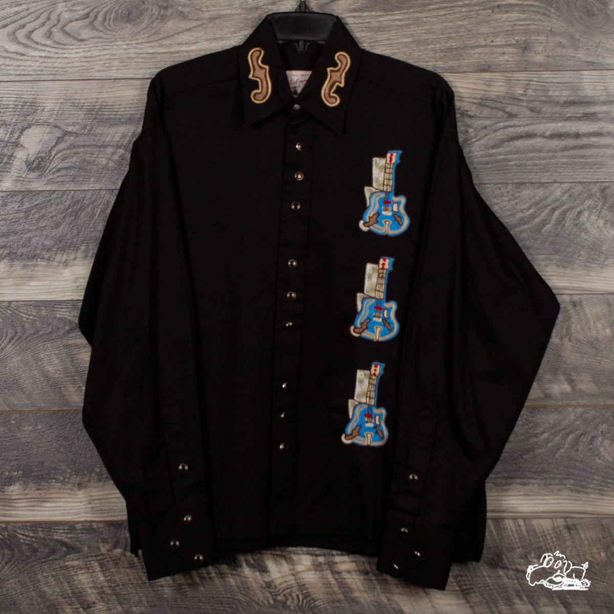 Rockmount Ranch Wear - Men's L/S Embroidered Guitars