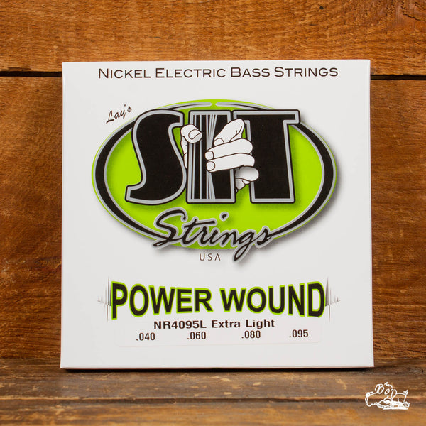 S.I.T. Powerwound Nickel Bass Strings - Extra Light (40-95)