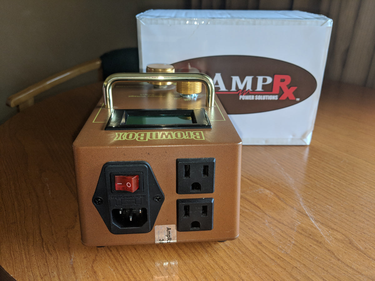 Used AmpRx Power Solutions - Brown Box - Power/Voltage Attenuator
