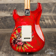 Used Fender Lozeau Red Sacred Heart Stratocaster
