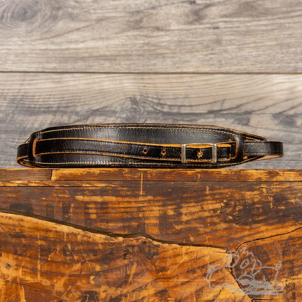 Vintage Ace Leather Guitar Strap - Black