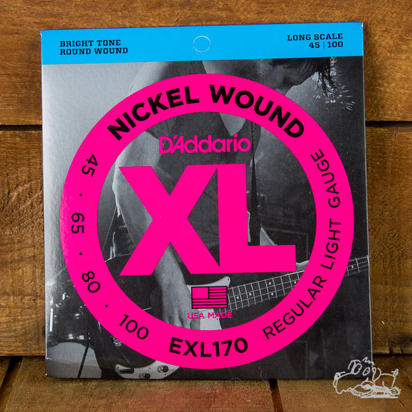 EXL170 Nickel Wound Bass, Light, 45-100, Long Scale