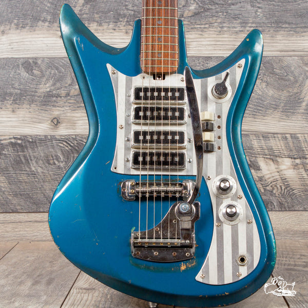 "1966 Teisco Del Rey ET-460 ""Sharkfin"" - Lake Placid Blue"