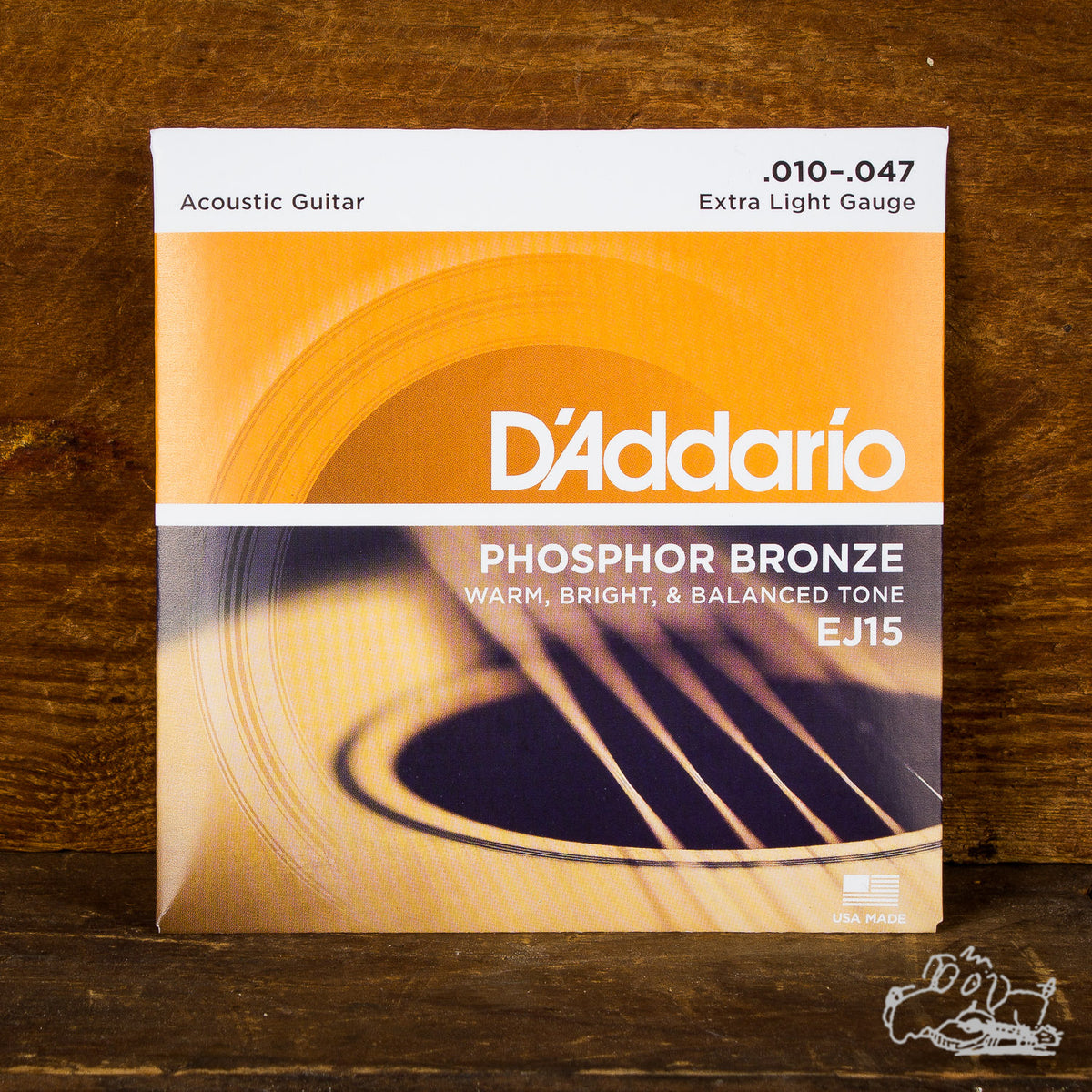 D'Addario Phosphor Bronze Extra Light Acoustic Guitar Strings 10-47
