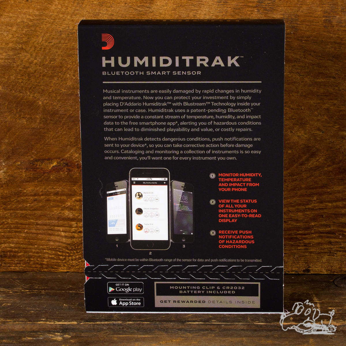Planet Waves Humiditrak - Bluetooth Humidity and Temperature Sensor