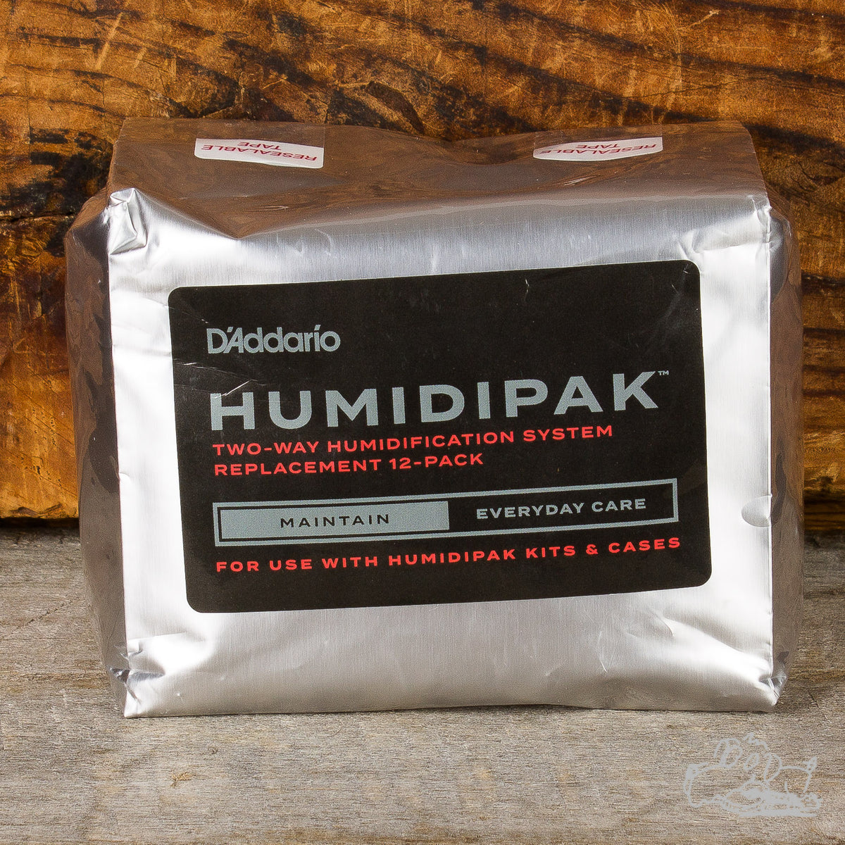 D'Addario Humidipak Two-Way Humidification System Replacement 12-Pack