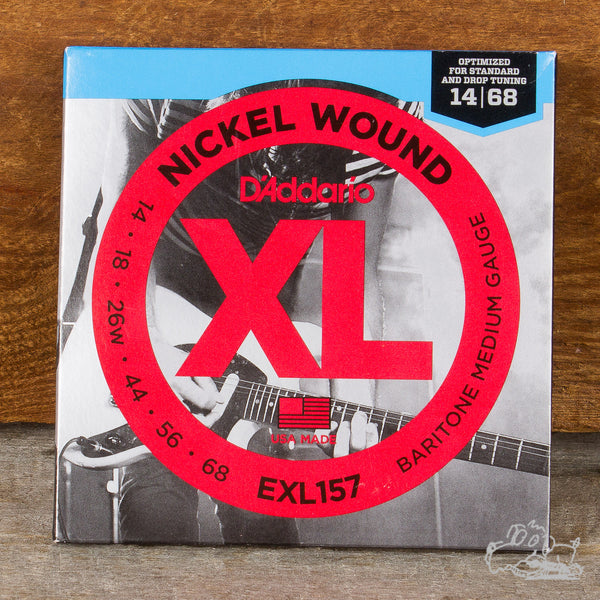 D'Addario XL Electric Baritone Guitar Strings - Nickel Wound - Medium 14-68 (EXL157)