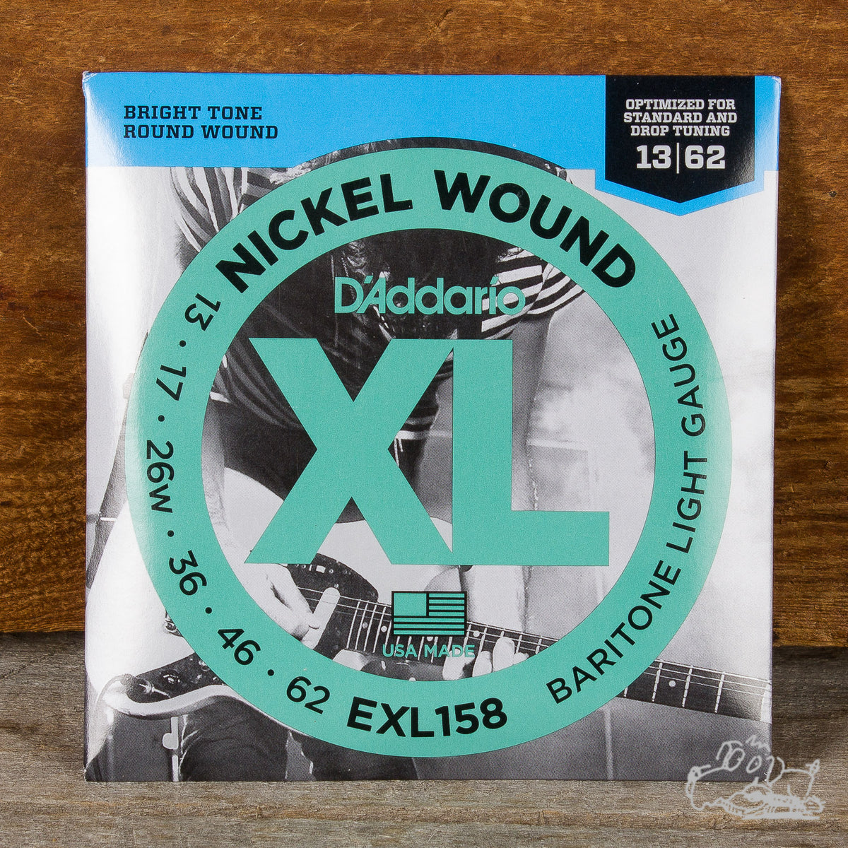 D'Addario XL Electric Baritone Guitar Strings - Nickel Wound - Light 13-62 (EXL158)