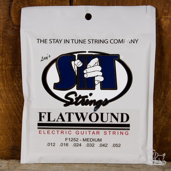S.I.T. Medium Flatwound Electric Guitar Strings - 12-52 (F1252)