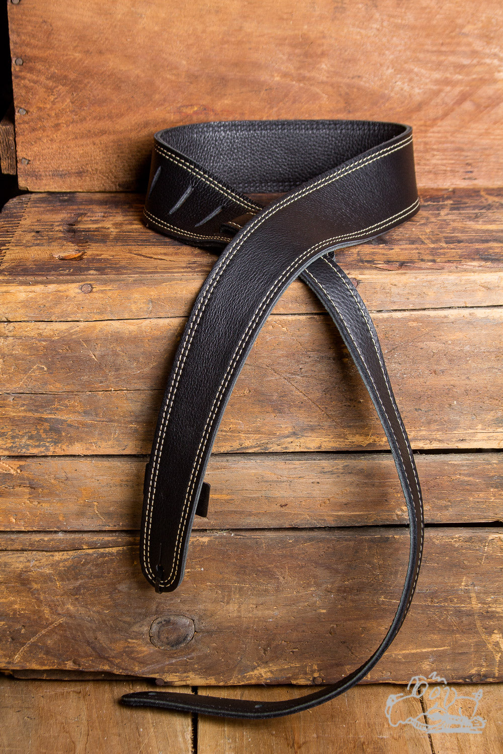 "LM The Slim Black 2"" Adjustable Guitar Strap"