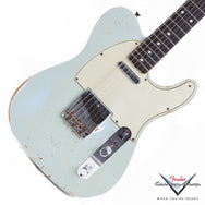 2010 Fender Custom Shop, WW 10-59 Telecaster Relic, Faded Sonic Blue - Garrett Park Guitars  - 1