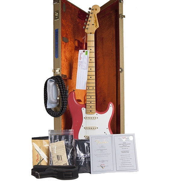 2014 Fender '57 Stratocaster Journeyman Relic, Faded Fiesta Red - Garrett Park Guitars  - 10