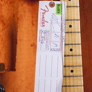 2014 Fender '57 Stratocaster Journeyman Relic, Faded Fiesta Red - Garrett Park Guitars  - 11